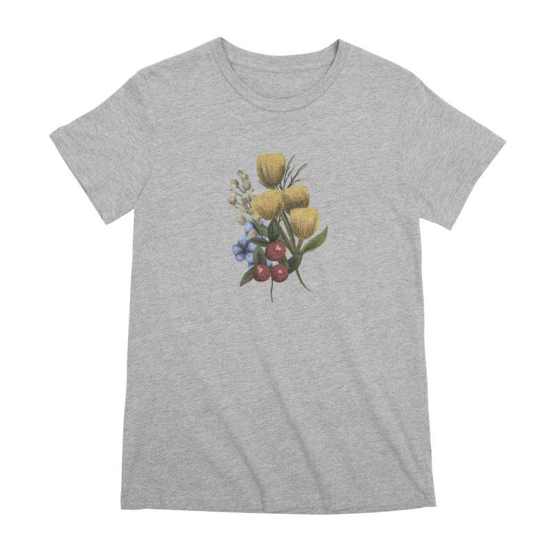 Flowers Women's Premium T-Shirt by Alison Sommer's Artist Shop