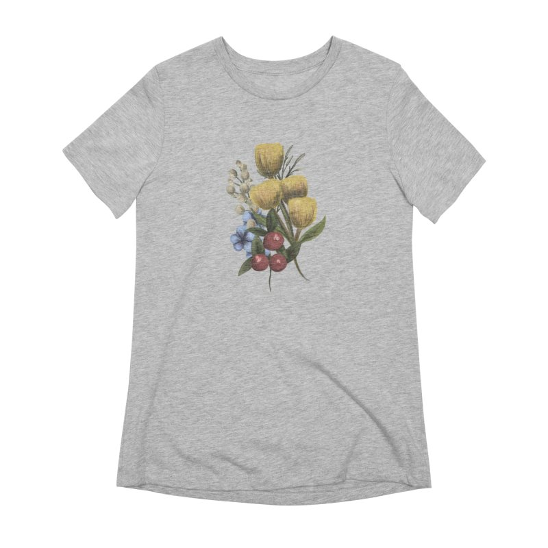 Flowers Women's Extra Soft T-Shirt by Alison Sommer's Artist Shop