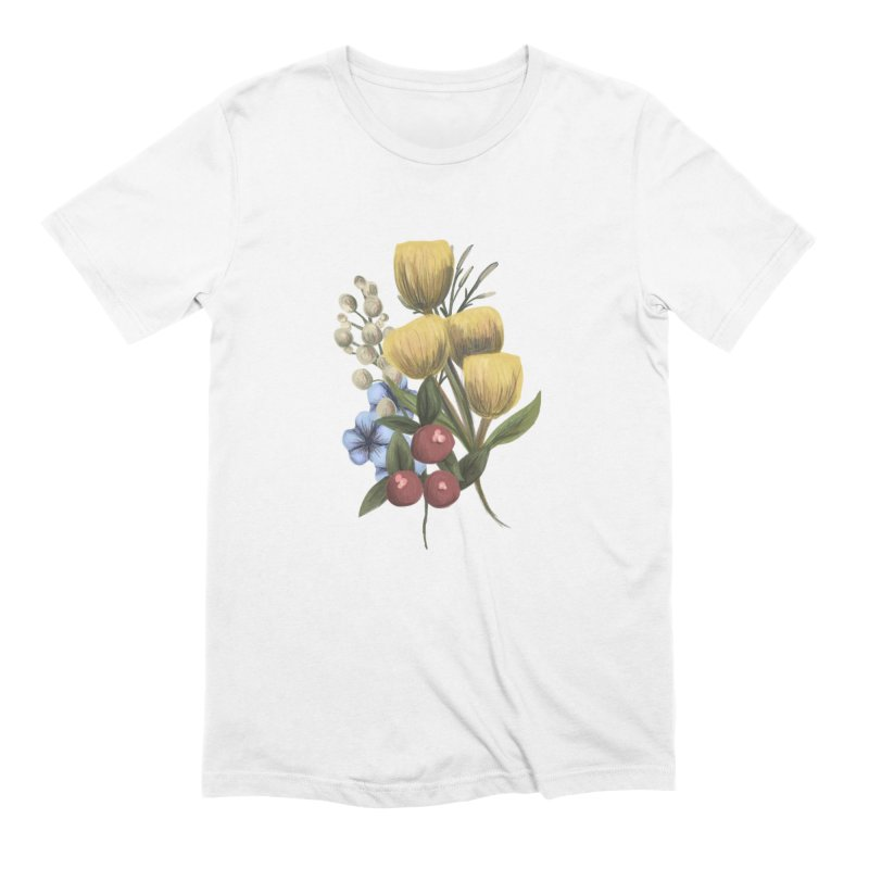 Flowers Men's Extra Soft T-Shirt by Alison Sommer's Artist Shop
