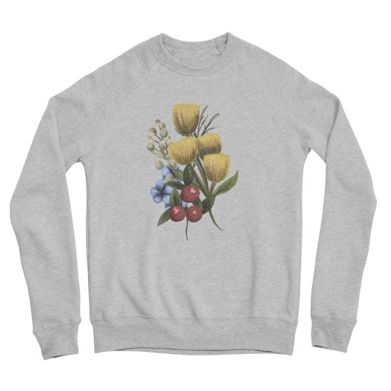 Flowers Women's Sponge Fleece Sweatshirt by Alison Sommer's Artist Shop