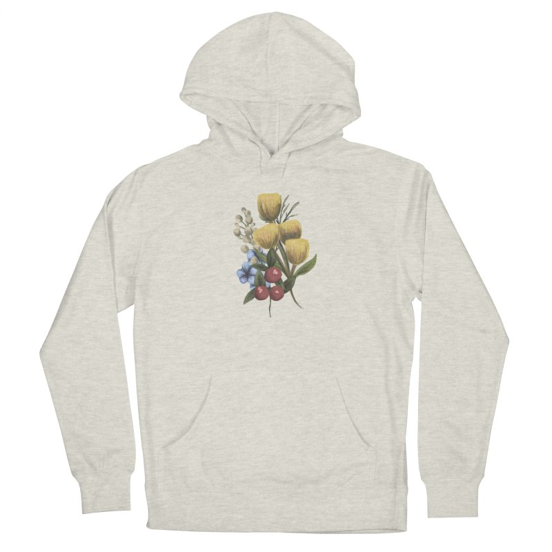 Flowers Men's Pullover Hoody by Alison Sommer's Artist Shop