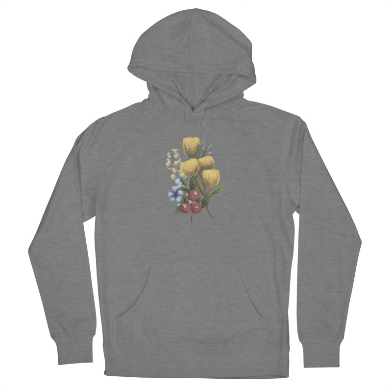 Flowers Men's French Terry Pullover Hoody by Alison Sommer's Artist Shop