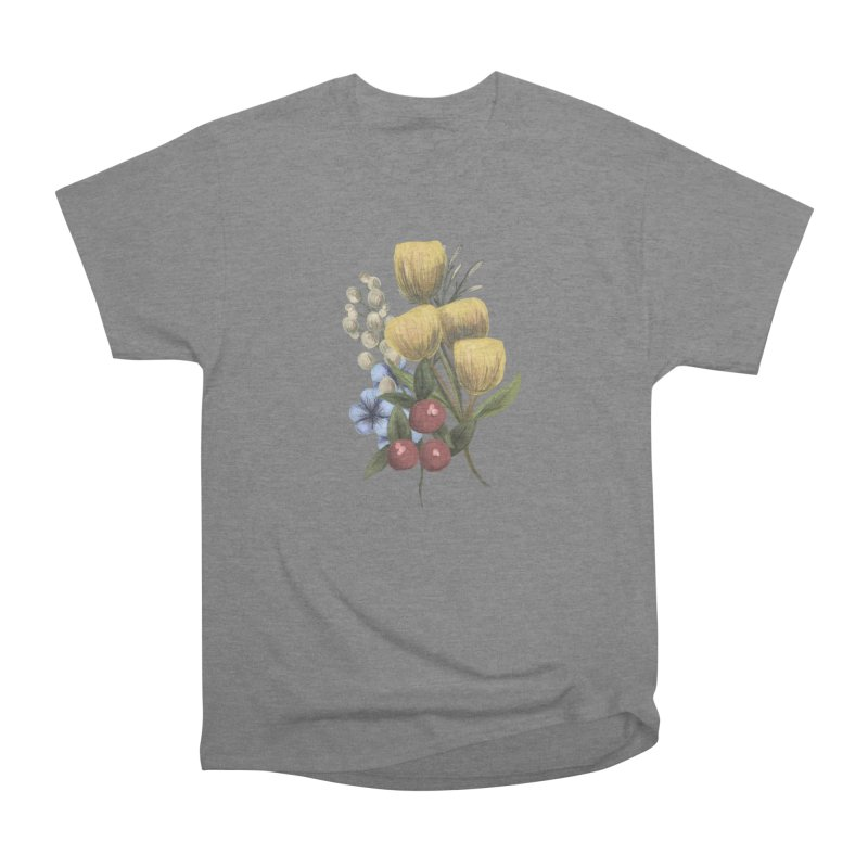 Flowers Women's Heavyweight Unisex T-Shirt by Alison Sommer's Artist Shop