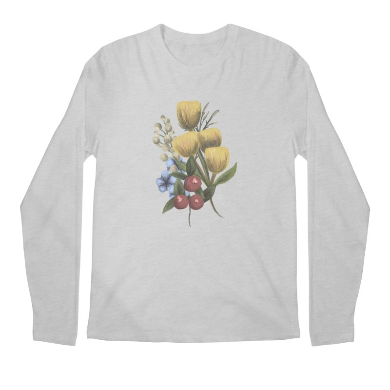 Flowers Men's Regular Longsleeve T-Shirt by Alison Sommer's Artist Shop