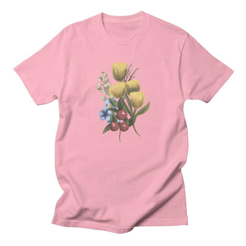 Flowers Men's Regular T-Shirt by Alison Sommer's Artist Shop