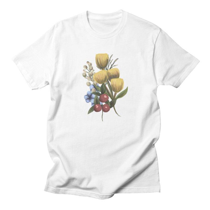 Flowers Men's T-Shirt by Alison Sommer's Artist Shop