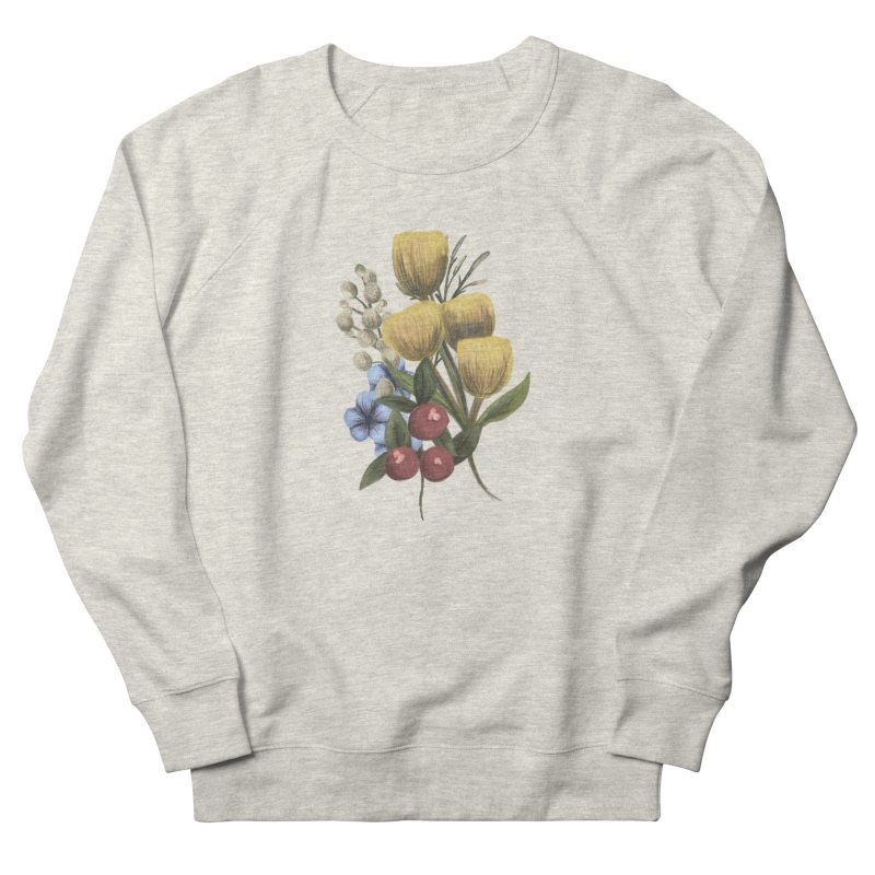 Flowers Women's French Terry Sweatshirt by Alison Sommer's Artist Shop