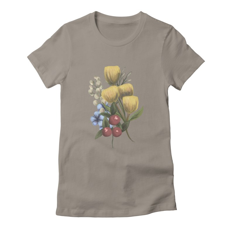 Flowers Women's Fitted T-Shirt by Alison Sommer's Artist Shop