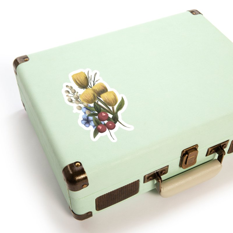 Flowers Accessories Sticker by Alison Sommer's Artist Shop