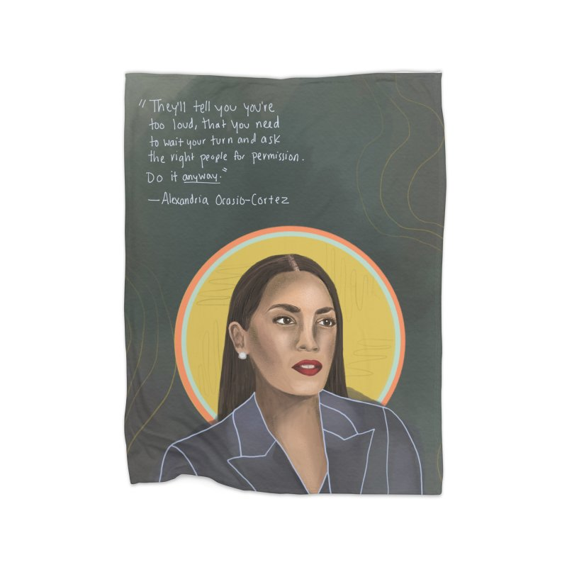 AOC Home Fleece Blanket Blanket by Alison Sommer's Artist Shop