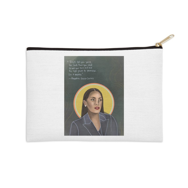 AOC Accessories Zip Pouch by Alison Sommer's Artist Shop