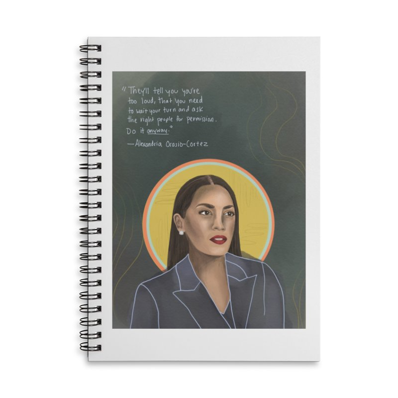 AOC Accessories Notebook by Alison Sommer's Artist Shop