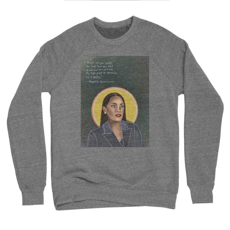 AOC Men's Sponge Fleece Sweatshirt by Alison Sommer's Artist Shop