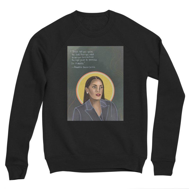 AOC Women's Sponge Fleece Sweatshirt by Alison Sommer's Artist Shop