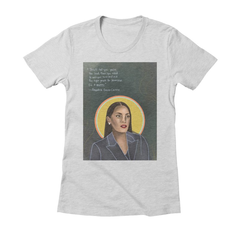 AOC Women's Fitted T-Shirt by Alison Sommer's Artist Shop