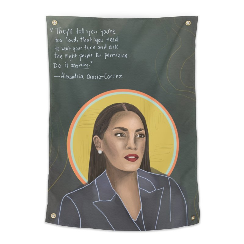 AOC Home Tapestry by Alison Sommer's Artist Shop