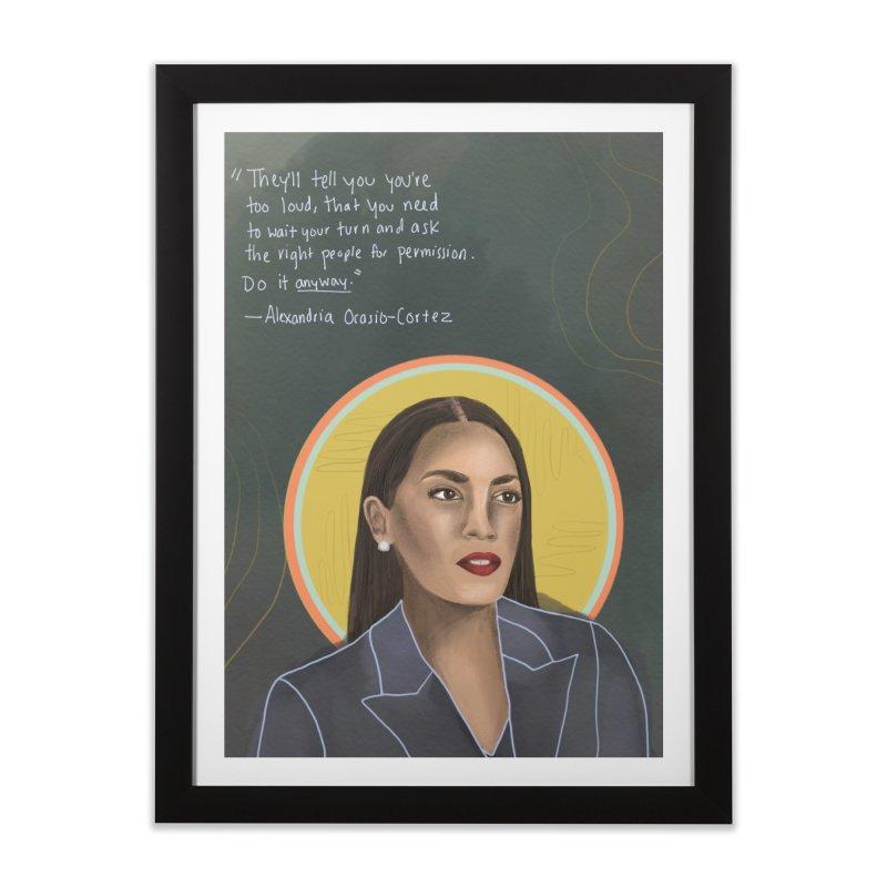 AOC Home Framed Fine Art Print by Alison Sommer's Artist Shop