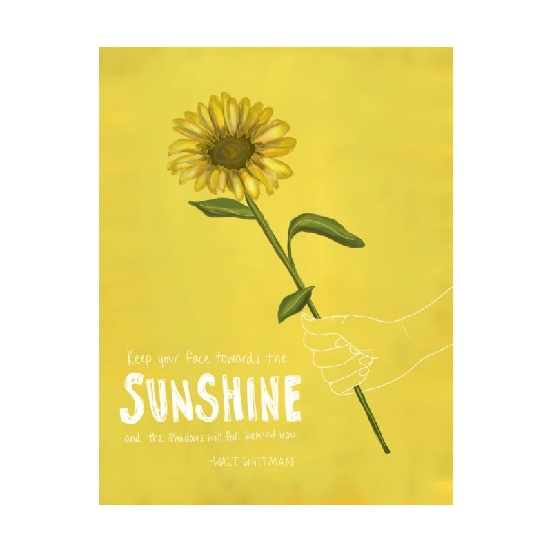 Sunflower Home Fine Art Print by Alison Sommer's Artist Shop