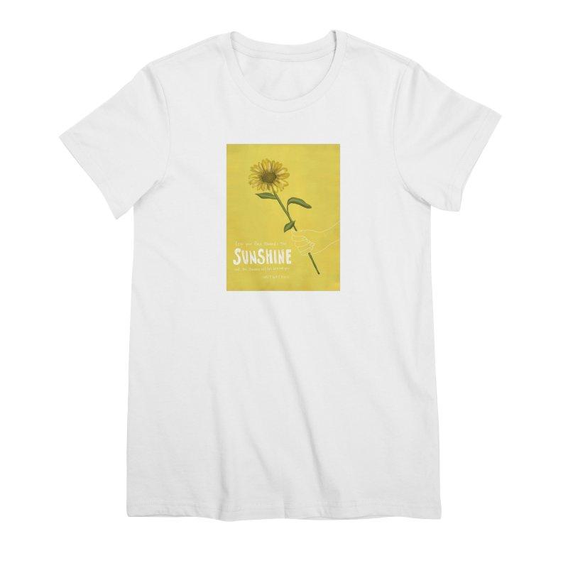 Sunflower Women's Premium T-Shirt by Alison Sommer's Artist Shop
