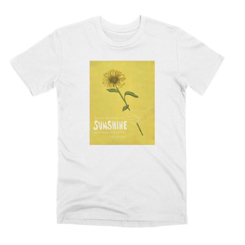 Sunflower Men's T-Shirt by Alison Sommer's Artist Shop