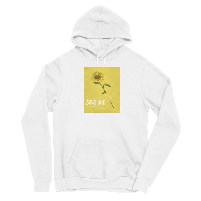 Sunflower Men's Pullover Hoody by Alison Sommer's Artist Shop
