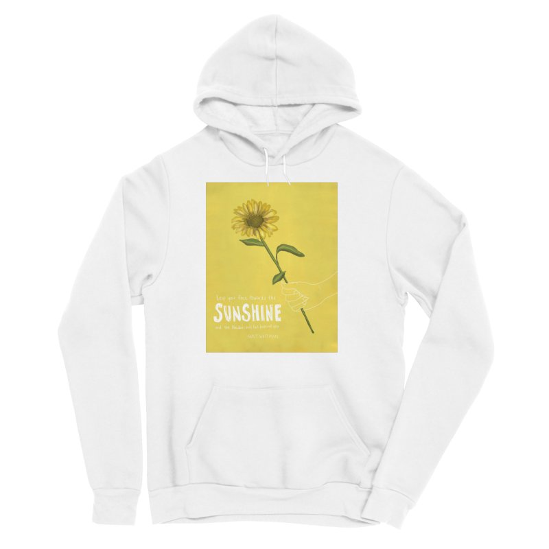 Sunflower Women's Sponge Fleece Pullover Hoody by Alison Sommer's Artist Shop