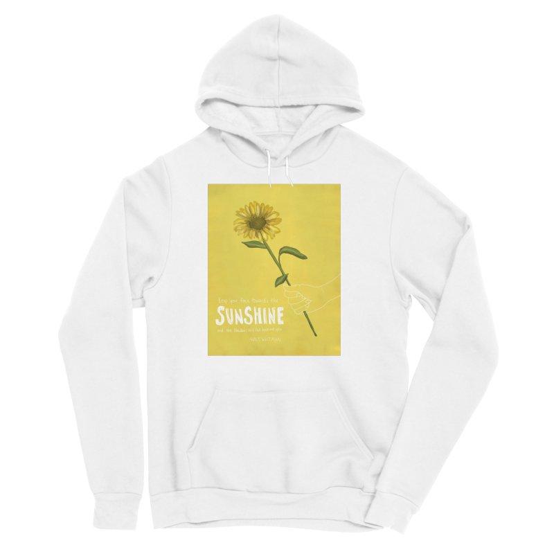 Sunflower Men's Sponge Fleece Pullover Hoody by Alison Sommer's Artist Shop