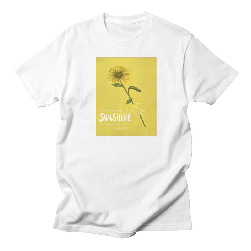 Sunflower Men's Regular T-Shirt by Alison Sommer's Artist Shop