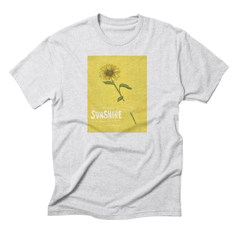 Sunflower Men's Triblend T-Shirt by Alison Sommer's Artist Shop