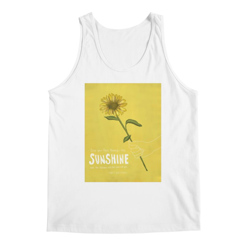 Sunflower Men's Tank by Alison Sommer's Artist Shop