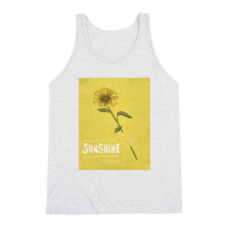 Sunflower Men's Triblend Tank by Alison Sommer's Artist Shop