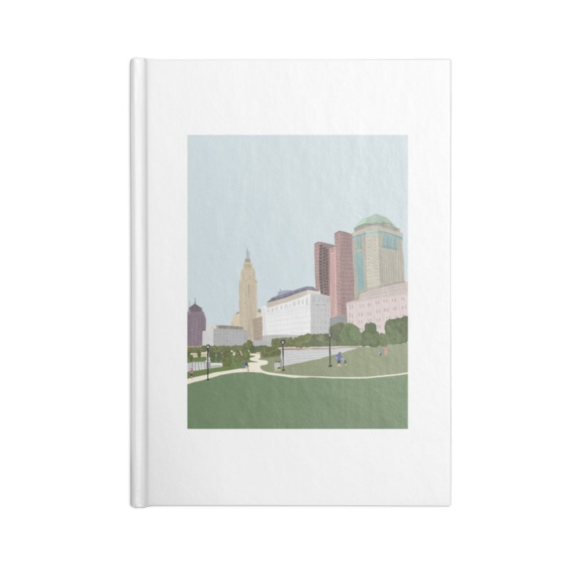 Downtown Columbus Accessories Lined Journal Notebook by Alison Sommer's Artist Shop