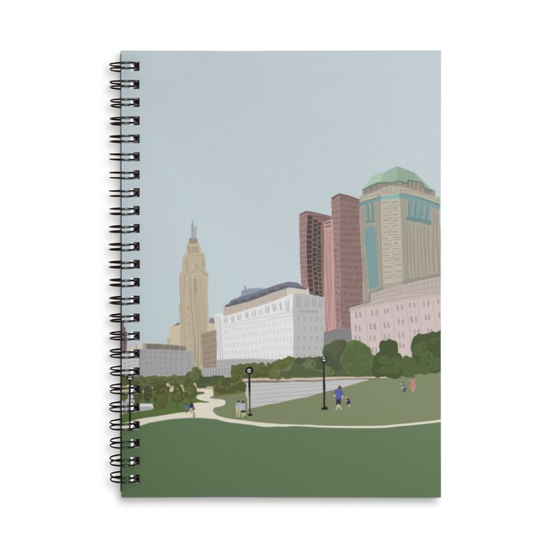 Downtown Columbus Accessories Lined Spiral Notebook by Alison Sommer's Artist Shop