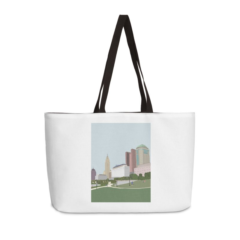 Downtown Columbus Accessories Weekender Bag Bag by Alison Sommer's Artist Shop