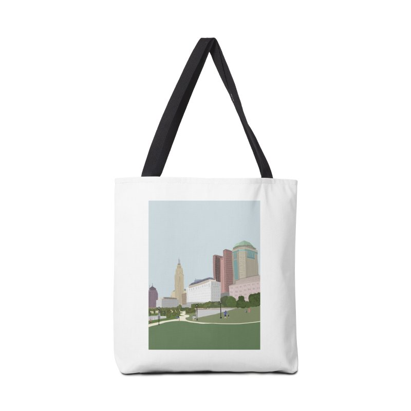 Downtown Columbus Accessories Bag by Alison Sommer's Artist Shop