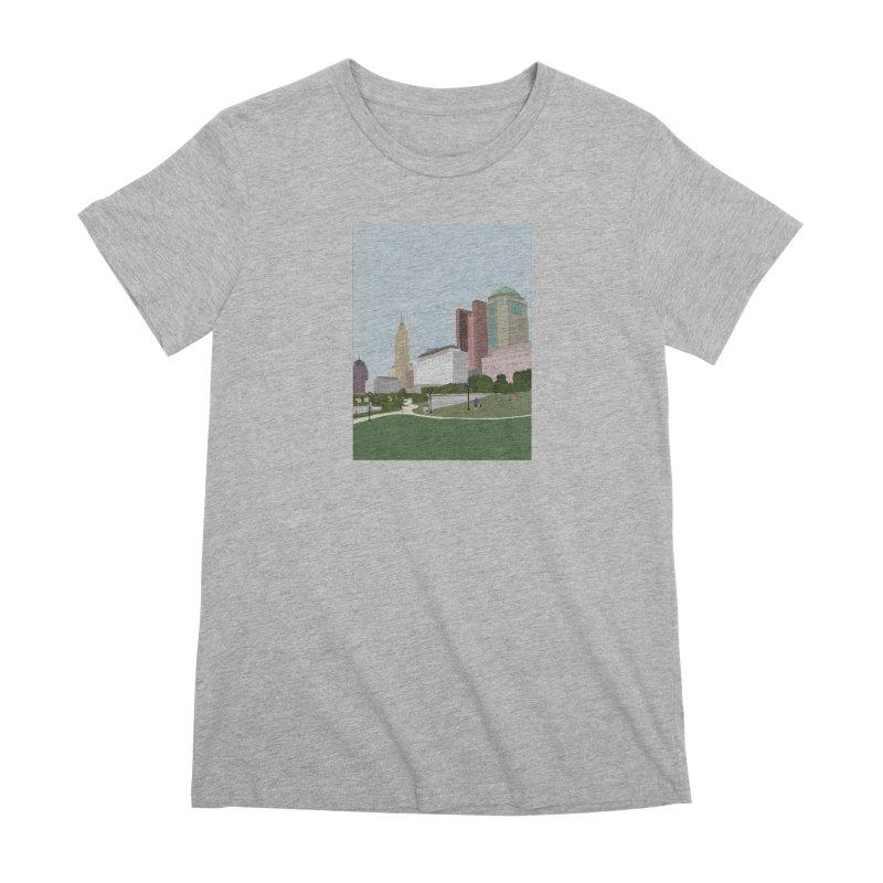 Downtown Columbus Women's Premium T-Shirt by Alison Sommer's Artist Shop
