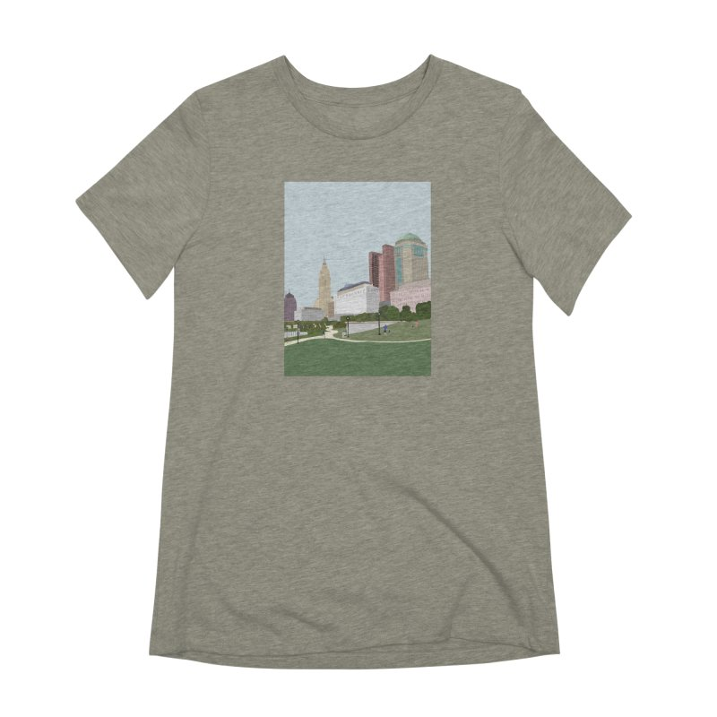 Downtown Columbus Women's Extra Soft T-Shirt by Alison Sommer's Artist Shop