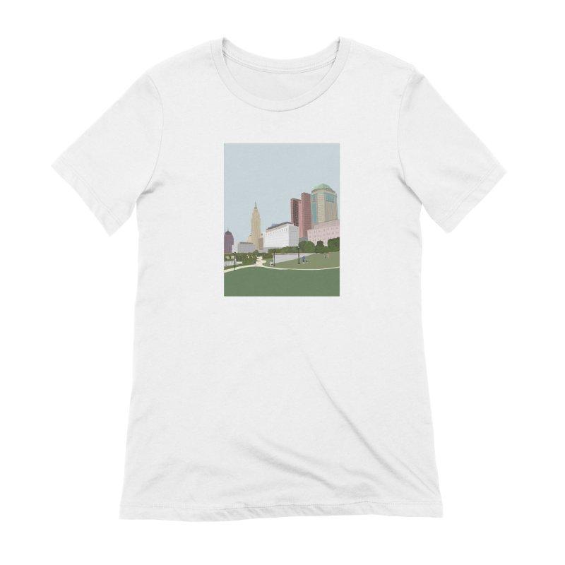 Downtown Columbus Women's T-Shirt by Alison Sommer's Artist Shop