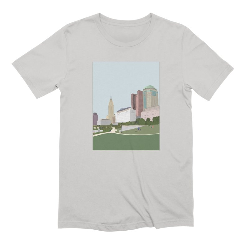 Downtown Columbus Men's T-Shirt by Alison Sommer's Artist Shop