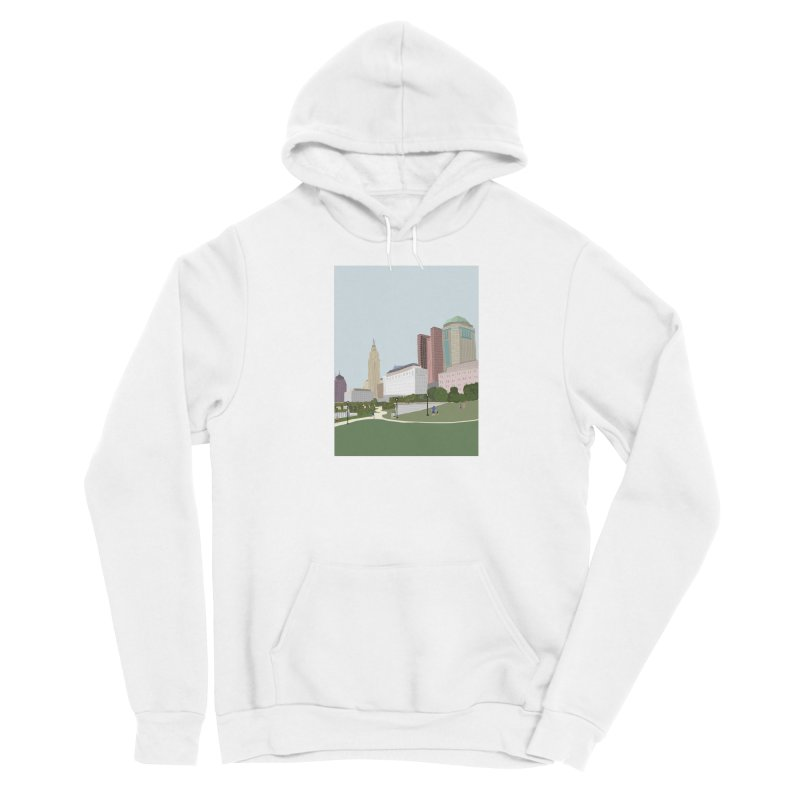 Downtown Columbus Men's Pullover Hoody by Alison Sommer's Artist Shop