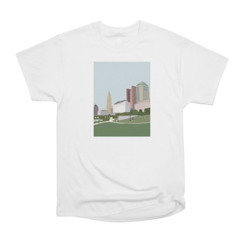 Downtown Columbus Women's Heavyweight Unisex T-Shirt by Alison Sommer's Artist Shop