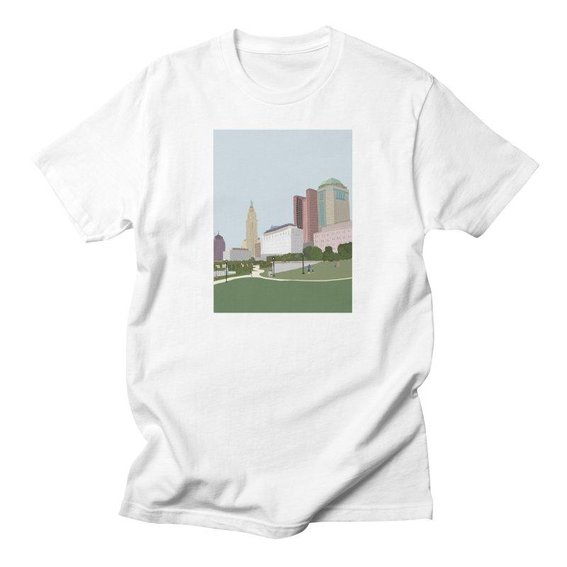 Downtown Columbus Men's T-Shirt by Alison Sommer's Artist Shop