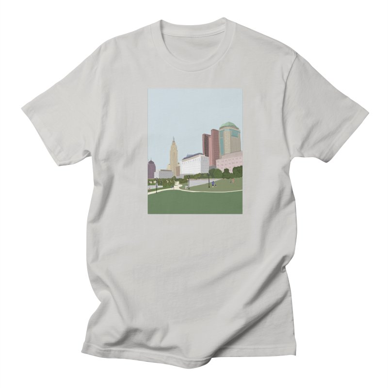 Downtown Columbus Men's Regular T-Shirt by Alison Sommer's Artist Shop