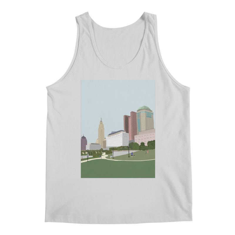 Downtown Columbus Men's Regular Tank by Alison Sommer's Artist Shop