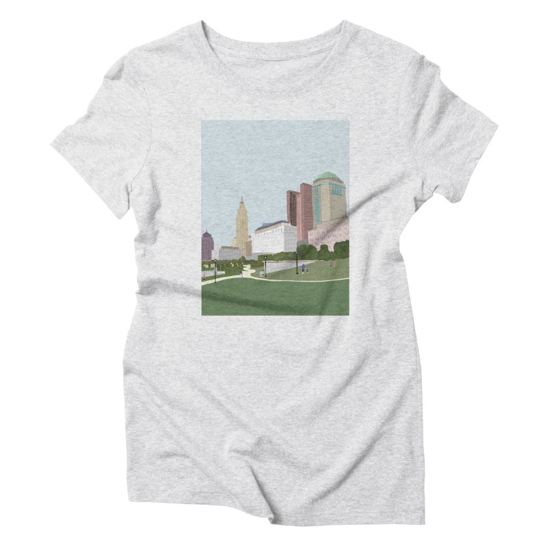 Downtown Columbus Women's Triblend T-Shirt by Alison Sommer's Artist Shop