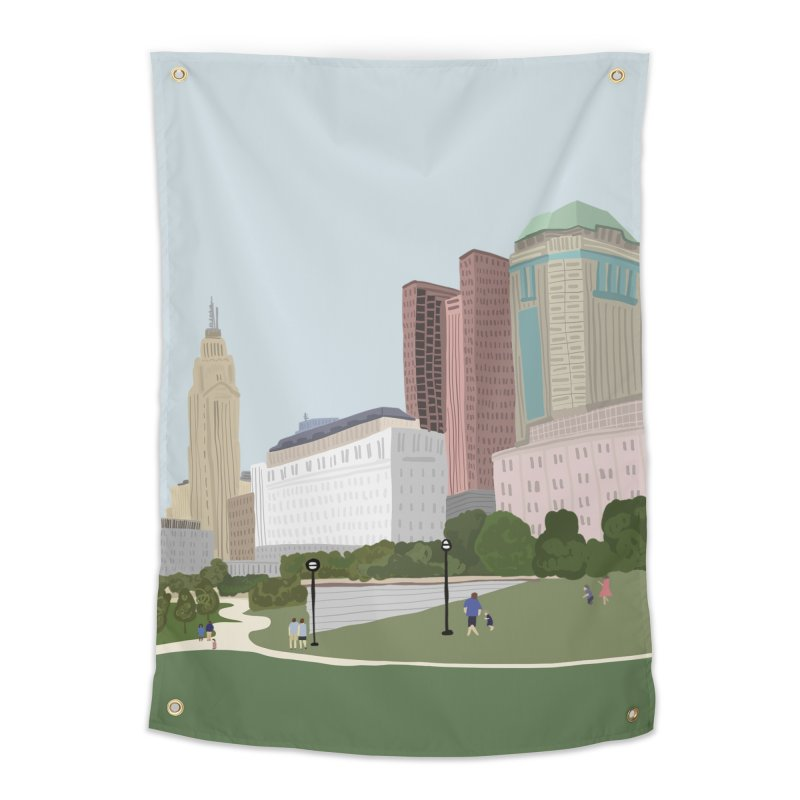 Downtown Columbus Home Tapestry by Alison Sommer's Artist Shop