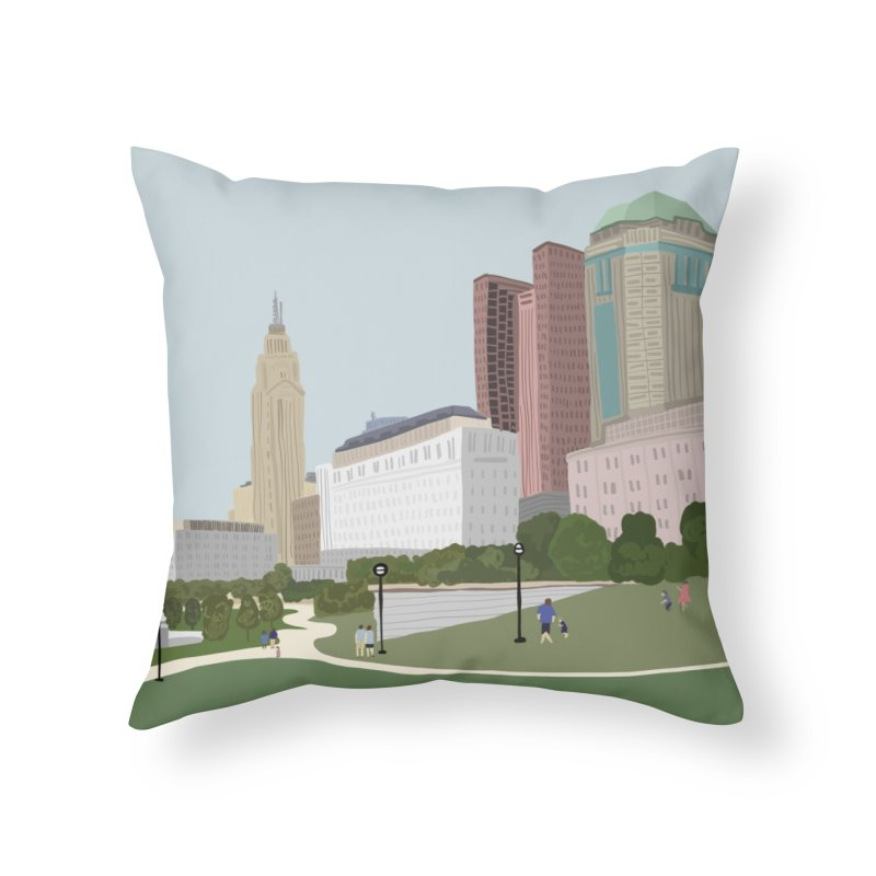 Downtown Columbus Home Throw Pillow by Alison Sommer's Artist Shop