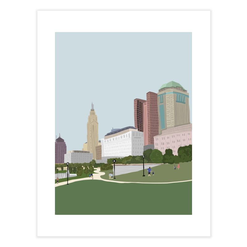 Downtown Columbus Home Fine Art Print by Alison Sommer's Artist Shop