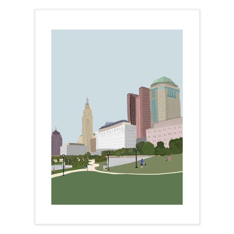 Downtown Columbus Home Fine Art Print by Alison Sommer's Artist Shop