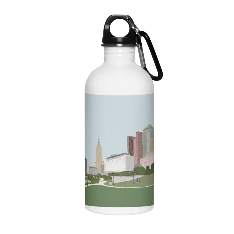Downtown Columbus Accessories Water Bottle by Alison Sommer's Artist Shop